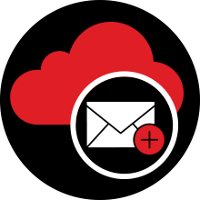 Cloud services hosted email icon
